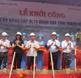 Khởi công DA nâng cấp QL15 đoạn qua tỉnh Thanh Hóa - VĨNH HƯNG JSC
