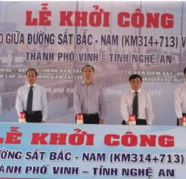 Khởi công xây dựng cầu vượt đường sắt tại Nghệ An - VĨNH HƯNG JSC