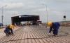 Trên công trường sửa chữa mặt cầu Thăng Long - VĨNH HƯNG JSC