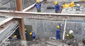 The project of waterproofing the floor of the basement - Vinh Hung JSC