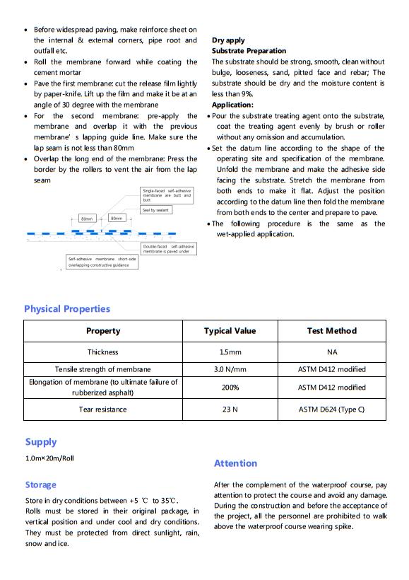 Màng chống thấm APF-3000 - VĨNH HƯNG JSC