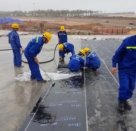 Thi công chống thấm Quảng trường - Dự án HẠ LONG OCEAN - VĨNH HƯNG JSC