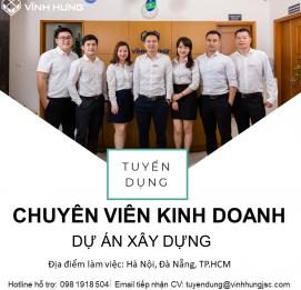 Tuyển dụng 01 Chuyên viên Kinh doanh Dự án làm việc tại - VĨNH HƯNG JSC
