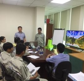 Đào tạo nội bộ mảng chống thấm cho cán bộ tại Đà nẵng - VĨNH HƯNG JSC
